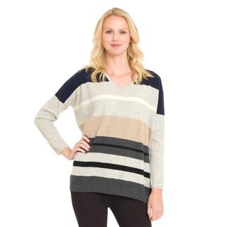 Premise Women's Cashmere Multi Stripe Pullover