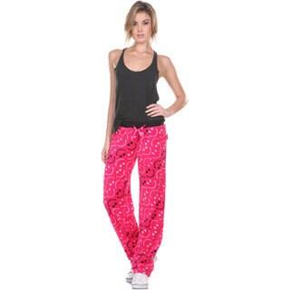 Stanzino Women's Smile Print Plush Pajama Pants