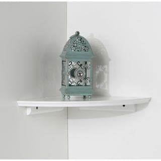Kathy Ireland White 10-inch Cottage Corner Shelf