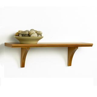 Kathy Ireland Honey Oak 15-inch Mission Bracket Shelf