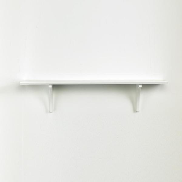 Kathy Ireland White 35-inch Mission Bracket Shelf
