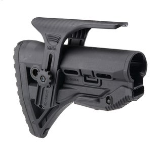 AR15 Stock with Internal Shock Absorber and GSPC Cheek Riser