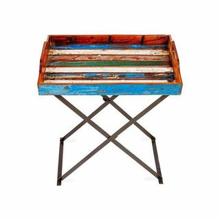 Topside Reclaimed Wood Tray with Stand