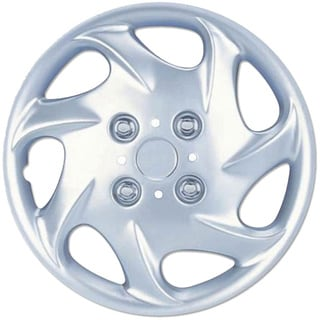 BDK Universal Fit 15-inch 4-piece Durable ABS Silver Hubcap Set (Nissan Style)