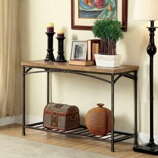 Furniture of America Perri Natural Industrial Sofa Table
