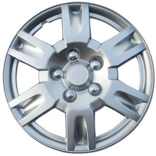 BDK Universal Fit 17-inch 4-piece Durable ABS Silver Hubcap Set (Nissan Altima Style)