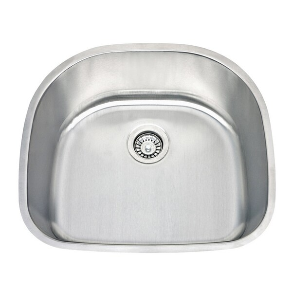 ... 24 Inch Classic D-bowl Undermount 18-Gauge Stainless Steel Kitchen