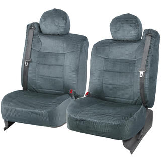 BDK Scottsdale Fabric Charcoal Front Truck Seat Covers