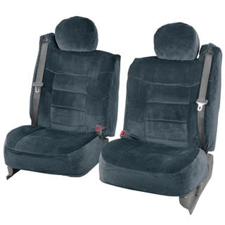 BDK 4-piece Encore Fabric Front Truck Seat Covers - Charcoal