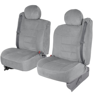 BDK 4-piece Encore Fabric Front Truck Seat Covers - Grey