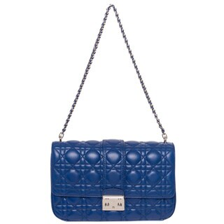 Christian Dior Blue Leather Miss Dior Bag