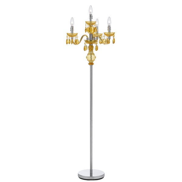 Pink Crystal Floor Lamps : Angelo home light gold faux crystal candelabra floor lamp  overstock ping