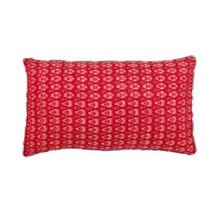 Mela Artisans Grey/ Red/ White Cotton Small Pillow (India)