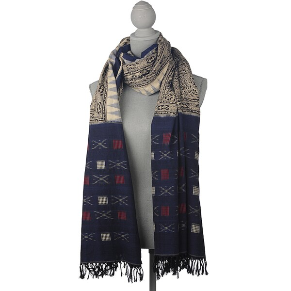 Mela Artisans Sensual Earth Oversized Cotton Scarf (India)