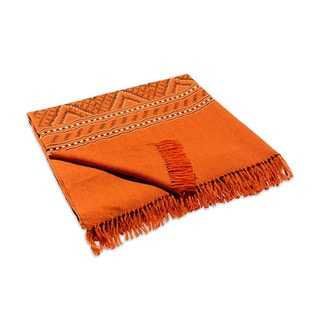 Mela Artisans Hand-woven Sierra in Terracotta Lambswool (India)