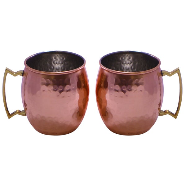 Hammered Copper Mugs (India)