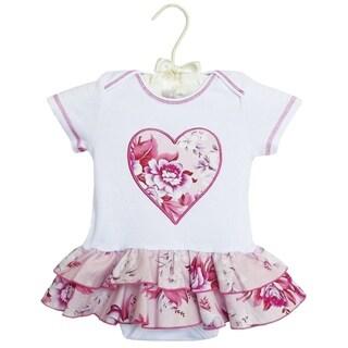 AnnLoren Boutique Baby Girls Rose Rumba Cotton Knit Bodysuit