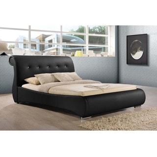 Baxton Studio Ella Modern Chrystal Tufted Platform Bed