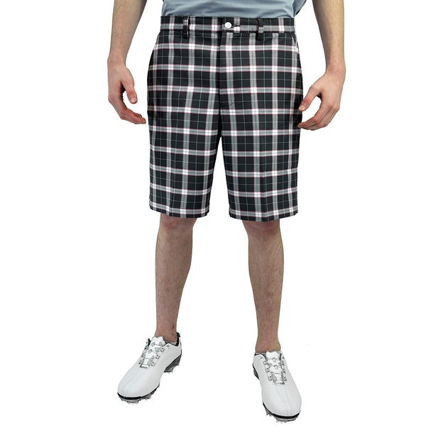 FootJoy Men's Performance Charcoal Plaid Golf Shorts