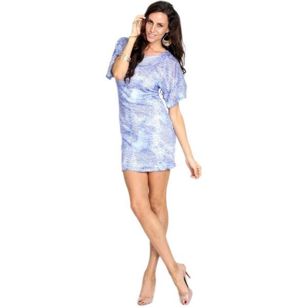 Women's Beautiful Blue Animal Print Dress