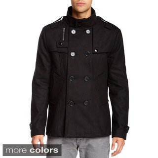 Seduka Men's Officer Style Pea Coat