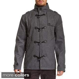 Seduka Men's Turtleneck Coat with Toggle Front