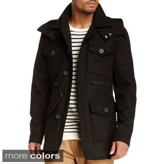 Seduka Men's Wool Blend Military Coat