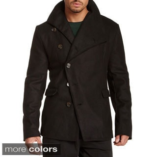 Seduka Men's Draped-neck Spy Coat