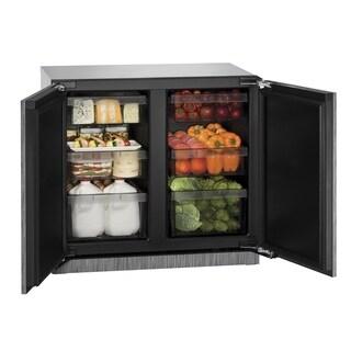 U-Line 3000 Series 3036 - 36 Inch Stainless Steel Solid Door Refrigerator
