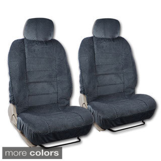 BDK Universal Fit 4-piece Scottsdale Fabric Low Back Deluxe Front Car Seat Covers