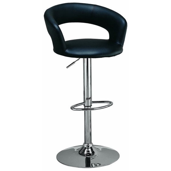 Upholstered, Curved Back, Swivel/ Adjustable Chrome Bar Stool