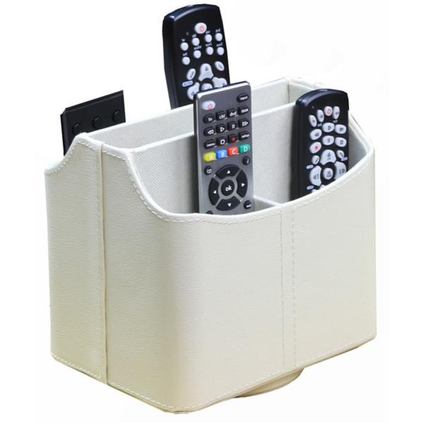 RI-9717101077 White Spinning Remote Control Organizer
