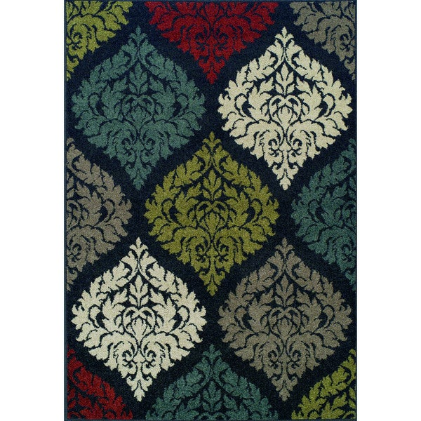 Giorgio Rounded Bobble Multi Color Rug (4'11 x 7')