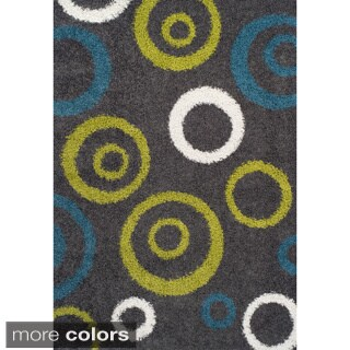 Odyssey Circles Multi Color Shag Rug (8'2 x 10')