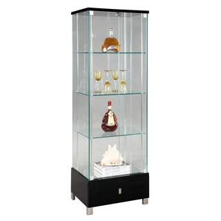 Modern Black Gloss Glass Curio