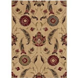 Loft Arrie Floral Design Polypropylene Rug (5'3 x 7'4)