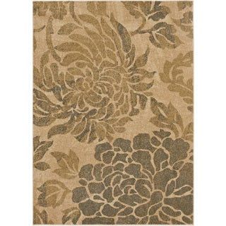 Rubber Back Ivory Multicolor Floral Garden Non Skid Area
