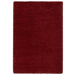 Loft Luxury Urban Shag Garnet Red Ru
