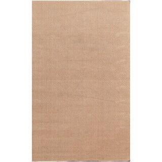 Simple and Elegant Beige Jute Solid Area Rug (5' x 8')