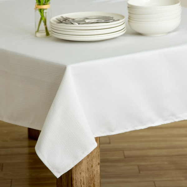 Climbing Vine White Heavyweight Spill-proof Tablecloth