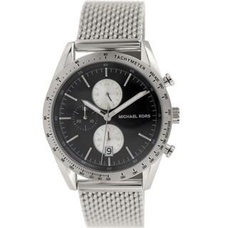 Michael Kors Men's MK8387 Accelerator Round Silver Bracelet Watch