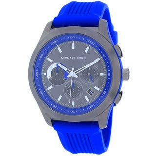 Michael Kors Men's MK8375 Outrigger Round Blue Strap Watch