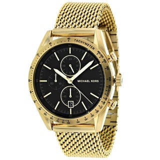 Michael Kors Men's MK8388 Accelerator Round Gold-plated Mesh Bracelet Watch