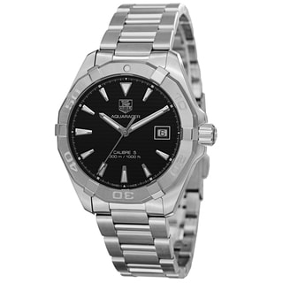 Tag Heuer Men's WAY2110.BA0910 '300 Aquaracer' Black Dial Stainless Steel Automatic Watch