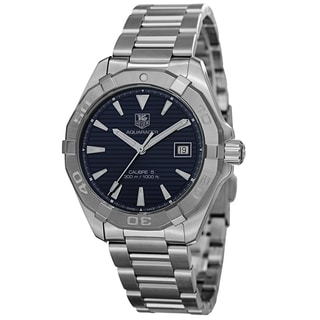 Tag Heuer Men's WAY2112.BA0910 '300 Aquaracer' Blue Dial Stainless Steel Automatic Watch