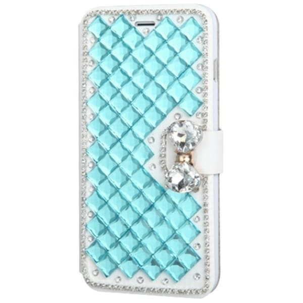 INSTEN Folio Flip Leather Stand Wallet Phone Case Cover With Diamond For Apple iPhone 6 Plus