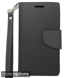 INSTEN Premium Folio Flip Leather Stand Wallet Phone Case Cover For Sharp Aquos Crystal