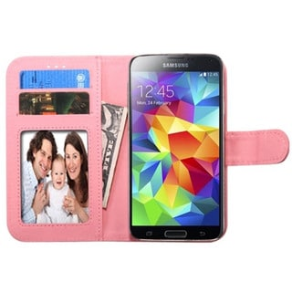 INSTEN Universal Leather Wallet Pouch With Photo Display, Card Slot For Apple iPhone 5/ 5C/ 5S/ iPod Touch 5th