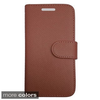 INSTEN Folio Flip Leather Stand Wallet Phone Case Cover For Alcatel One Touch Fierce 2 7040T
