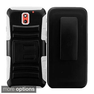 INSTEN Advanced Armor Hybrid Stand Rubberized Hard Plastic PC/ Silicone Holster Phone Case Cover For HTC Desire 610/ 612